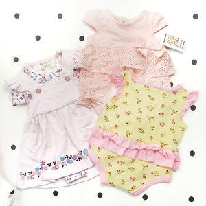 7 Piece Girls Newborn Lot Infant 0-3 Months